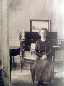 Hammershøi's wife Ida
